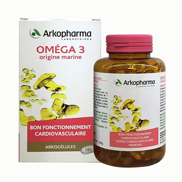 Viên uống dầu cá Omega 3 Arkopharma 180 viên chính hãng Pháp