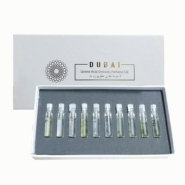 Set 10 tinh dầu nước hoa Dubai mini chính hãng