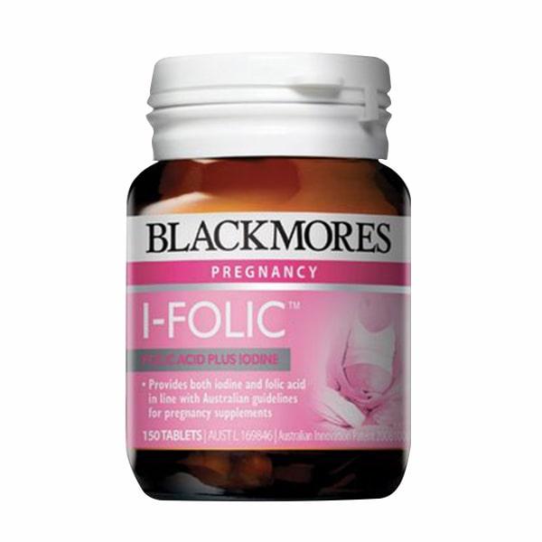 Viên uống Blackmores I-Folic 150 viên của Úc dành cho bà bầu