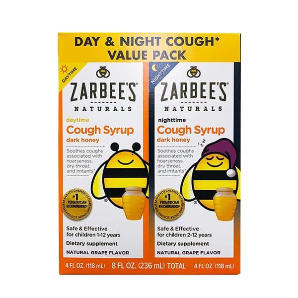 Siro trị ho mật ong Zarbee's Cough Syrup ngày và đêm cho bé của Mỹ