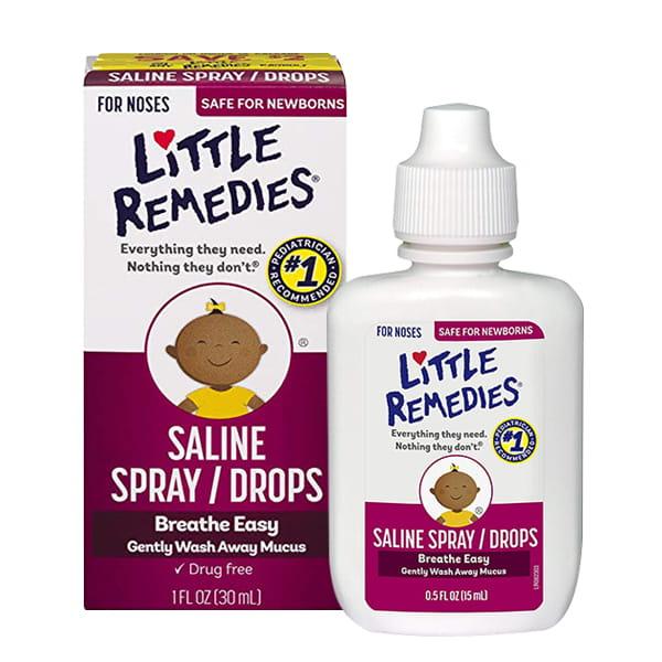Xịt nhỏ mũi cho bé Little Remedies Saline Spray Drops 30ml