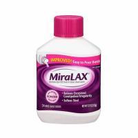 Bột trị táo bón cho trẻ em và người lớn Miralax 34 cốc của Mỹ