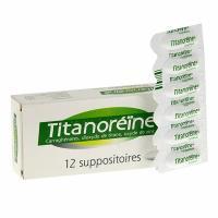 Thuốc đặt trĩ Titanoreine dạng viên của Pháp, hộp 12 viên