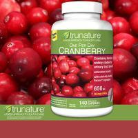 Viên hỗ trợ đường tiết niệu Trunature Cranberry 650mg của Mỹ