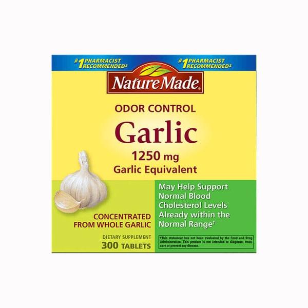Tinh dầu tỏi Nature Made Odor Control Garlic 1250mg của Mỹ