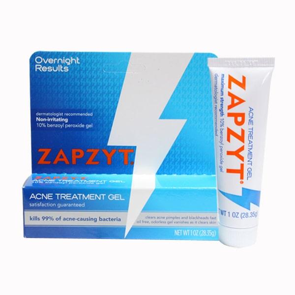 [Nhập Mỹ] Kem Trị Mụn Zapzyt với công thức chứa 10% Benzoyl Peroxide - Zapzyt 10% Benzoyl Peroxide Gell