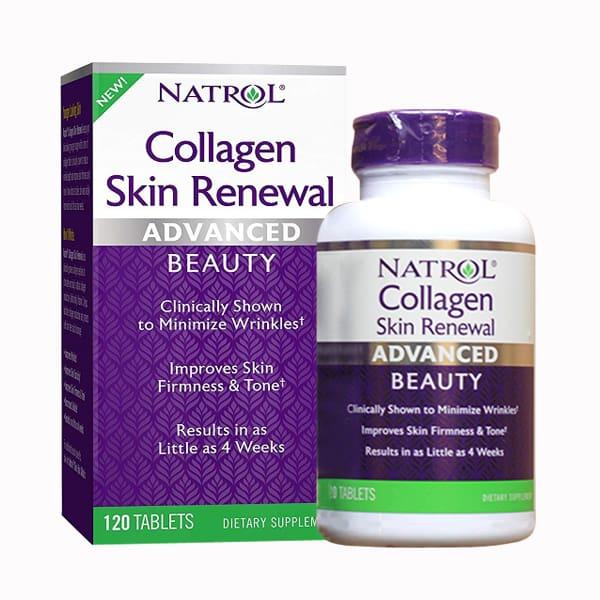 Viên uống Natrol Collagen Skin Renewal 120 viên chống lão hóa