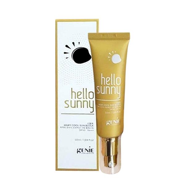 Sữa chống nắng Genie Hello Sunny Milky Cool 50ml Hàn Quốc