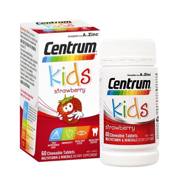 Vitamin tổng hợp cho trẻ em Centrum Kids Strawberry 60 viên