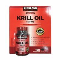 Dầu nhuyễn thể Kirkland Krill Oil 500mg 160 viên của Mỹ