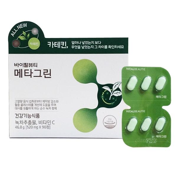 Viên giảm cân trà xanh Meta Green Vital Beautie Hàn Quốc
