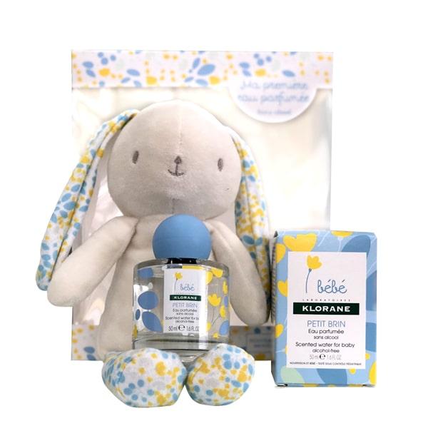 Set nước hoa trẻ em Klorane Bebe 50ml tặng thỏ bông dễ thương