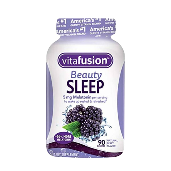 Kẹo dẻo hỗ trợ ngủ ngon Vitafusion Beauty Sleep 5mg Melatonin