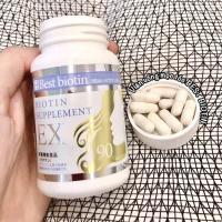 Viên uống hỗ trợ mọc tóc Best Biotin Supplement EX 90 viên Nhật