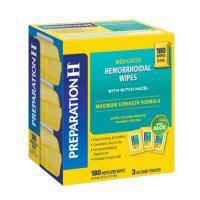 Khăn lau trị trĩ PreparationH Hemorrhoidal Wipes 180 miếng