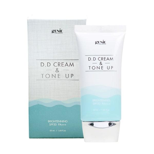 Kem nền chống nắng dưỡng trắng Genie DD Cream & Tone Up