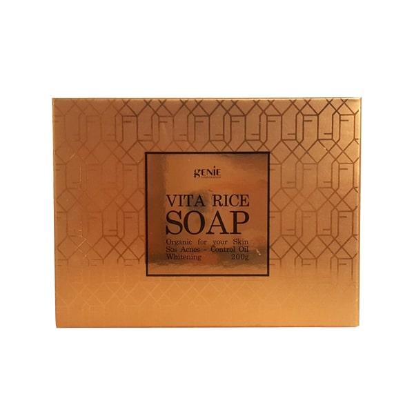 Soap rửa mặt trị mụn sáng da Genie Vita Rice Hàn Quốc
