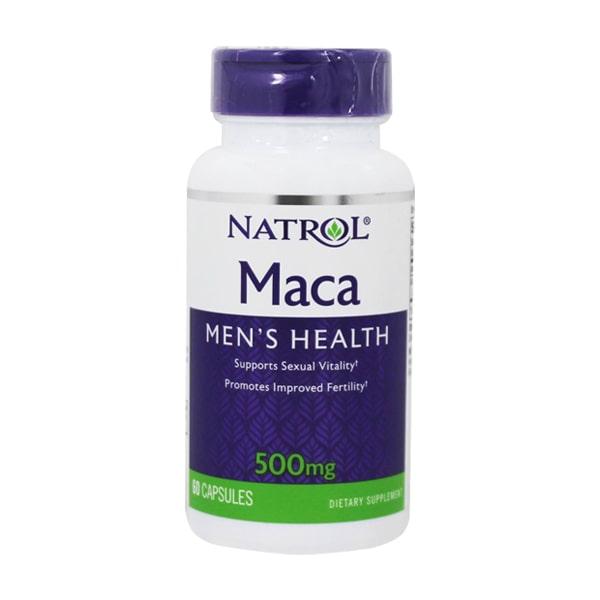 Viên uống Natrol Maca Men's Health 500mg 60 viên Mỹ