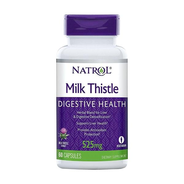 Viên uống giải độc gan Natrol Milk Thistle 525mg của Mỹ