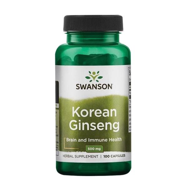Viên uống nhân sâm Hàn Quốc Swanson Korean Ginseng 500mg Mỹ