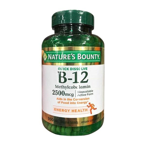 Viên uống Vitamin B12 2500mg Nature's Bounty 300 viên Mỹ