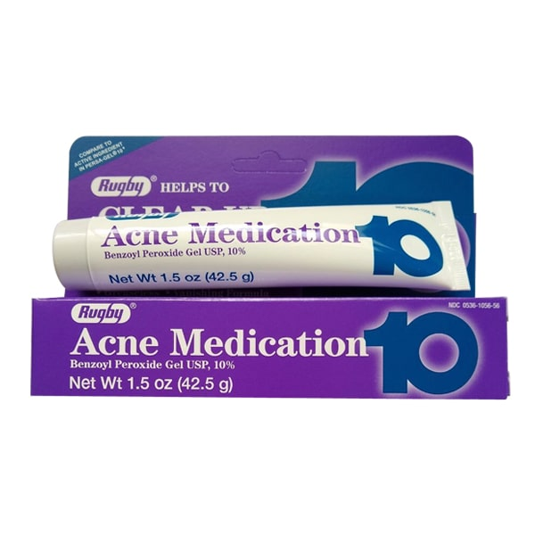 Kem trị mụn trắng da Rugby Acne Medication 10% của Mỹ