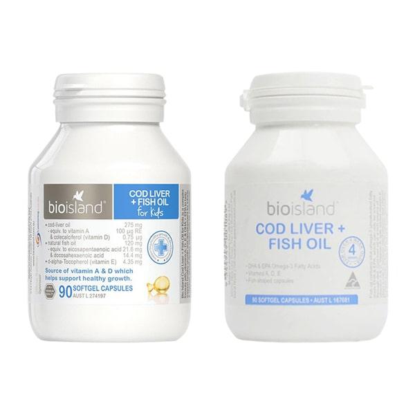 Dầu Cá Cod Liver Fish Oil Bio Island Hộp 90 Viên Của Úc