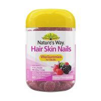 Kẹo dẻo làm đẹp da móng tóc Nature's Way Hair Skin & Nail 60 viên