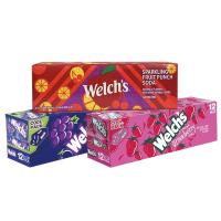Nước ngọt Welch's vị nho, dâu, táo thùng 12 lon 355 ml của Mỹ