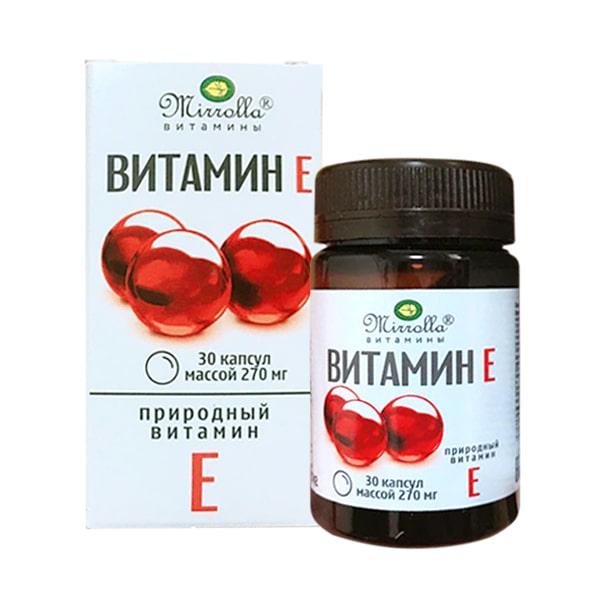 Vitamin E 270mg Mirrolla của Nga hộp 30 viên
