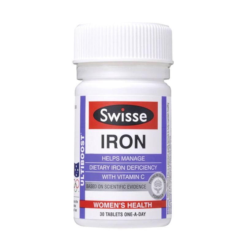 Viên bổ sung sắt Swisse Ultiboost Iron 30 viên từ Úc