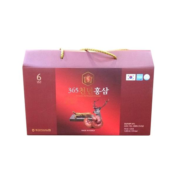 Hồng sâm nhung hươu linh chi 365 Hàn Quốc gói 70ml