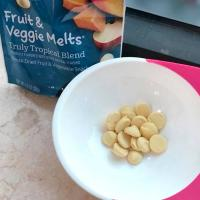 Sữa chua khô Gerber Fruit Veggie Melts 28g của Mỹ cho bé
