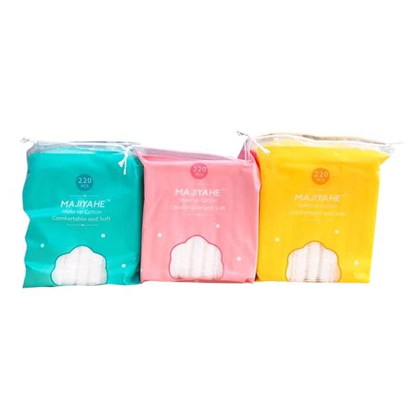 Bông tẩy trang Majiyahe Make up Cotton 220 miếng mềm mại