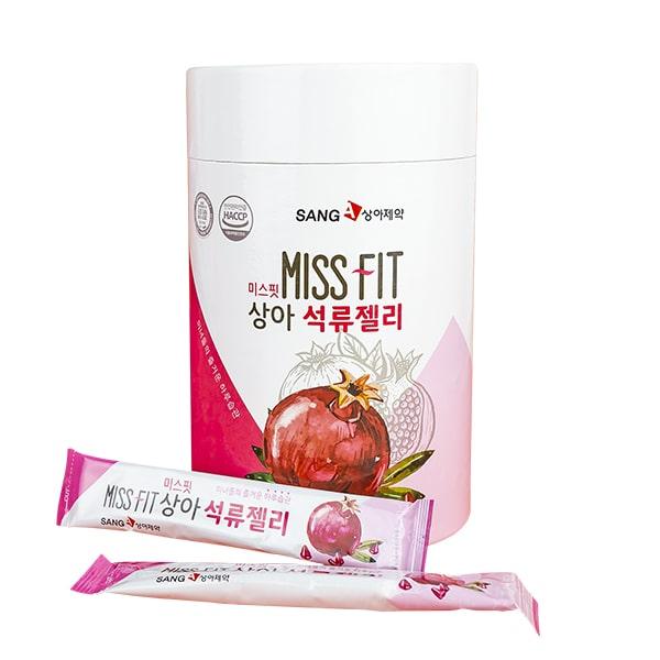 Thạch lựu SangA Miss Fit đẹp da giảm cân Hàn Quốc hộp 30 gói
