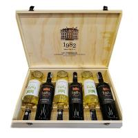 Set 6 chai rượu vang 1982 UG Bordeaux 2018 mix trắ...