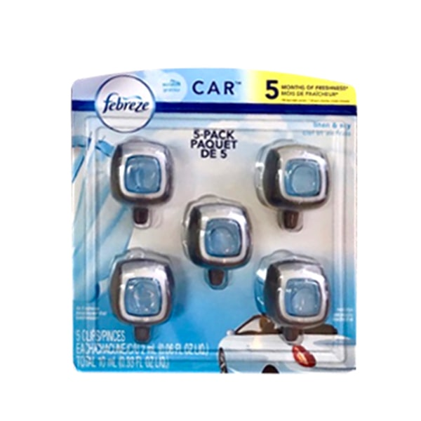 Set 5 lọ nước hoa xe hơi Car Febreze 5 x 2ml nhập từ Mỹ