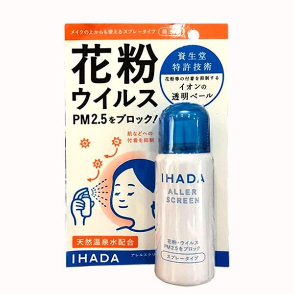 Xịt kháng khuẩn, bụi mịn Ihada Shiseido PM 2.5 Nhật Bản