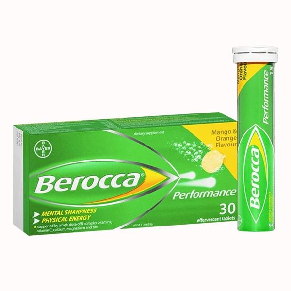 Viên sủi Berocca của Úc tăng cường đề kháng, phòng cảm cúm