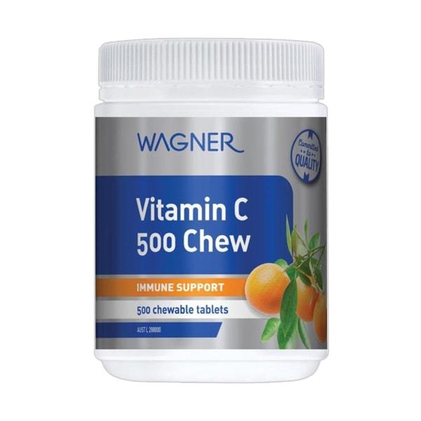 Viên nhai bổ sung vitamin C 500 Chew Wagner của Úc