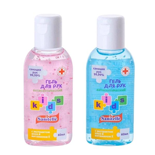 Gel rửa tay khô cho bé Sanitelle Kids 60ml của Nga