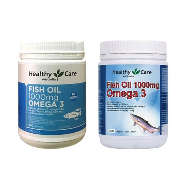 Dầu cá tự nhiên Fish Oil Healthy Care Omega-3 1000mg 400 viên của Úc