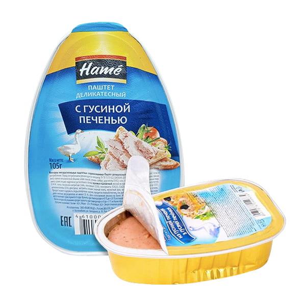 Pate gan ngỗng Hame 105g của Nga, hương vị hấp dẫn