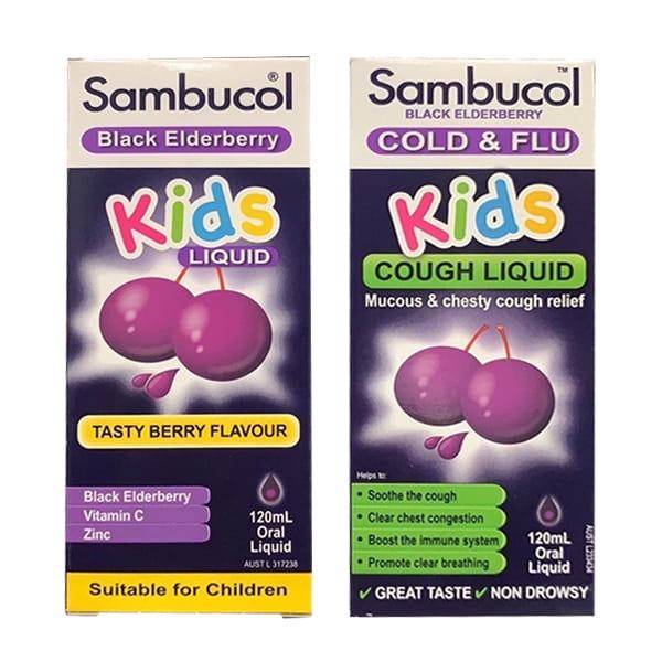Siro trị cảm cúm cho bé Sambucol Cold & Flu 120ml