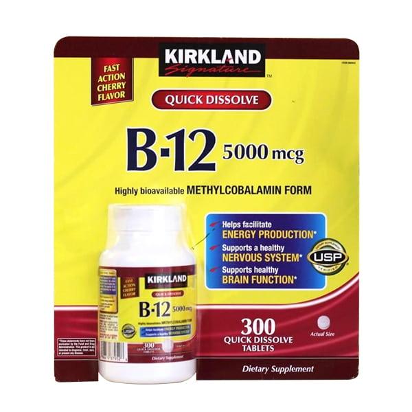 Vitamin B12 5000mcg Kirkland 300 viên của Mỹ chính hãng