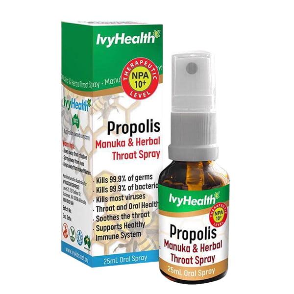 Xịt keo ong Ivy Health Propolis Manuka 25ml của Úc