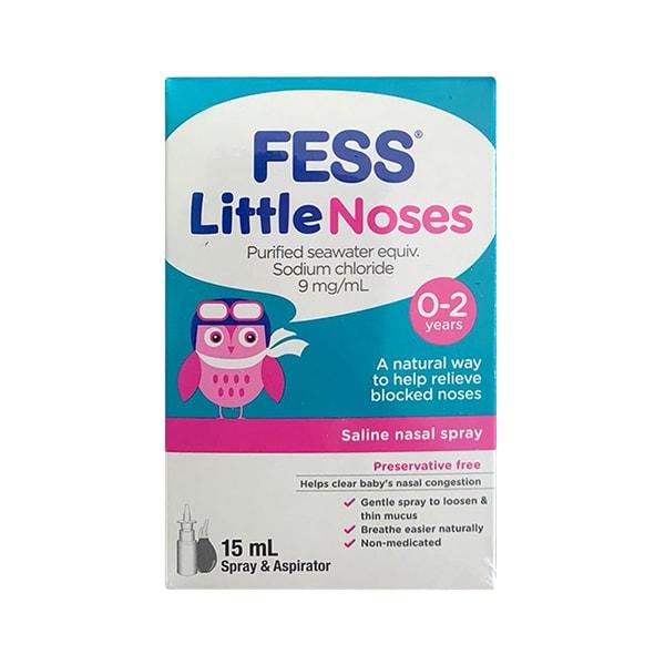 Xịt mũi Fess Little Noses 15ml trị nghẹt mũi, sổ mũi cho bé từ 0-2 tuổi