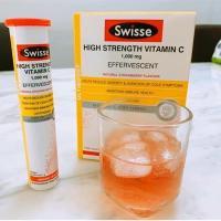Viên sủi Swisse High Strength Vitamin C 1000mg ống 20 viên