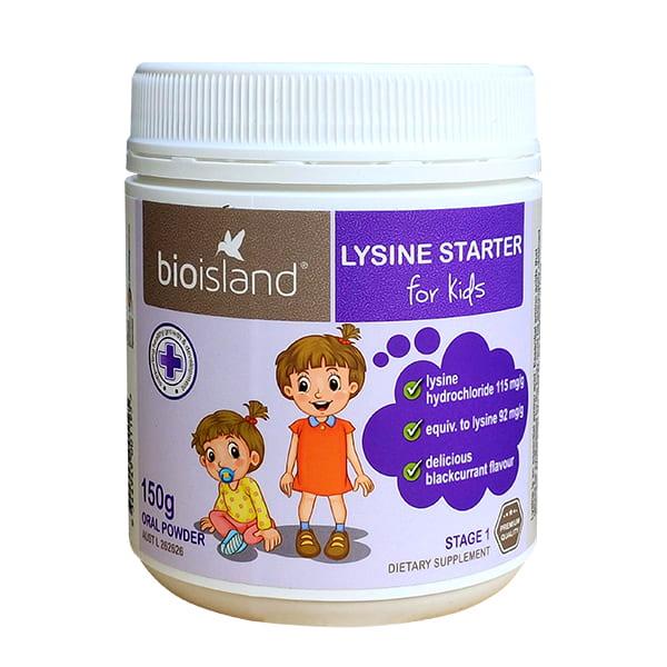 Bột tăng chiều cao cho bé dưới 6 tuổi Bio Island Lysine Starter của Úc