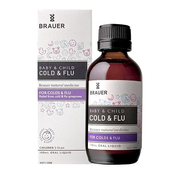 Siro trị cảm cúm Brauer Baby & Child Cold And Flu 100ml